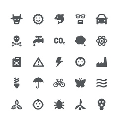 Eco energy icons set vector