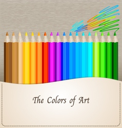 Pencil colors vector