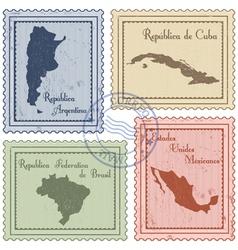 Postal stamps vector