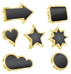 Golden design element set vector