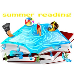 Summer reading vector