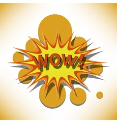 Wow cartoon vector