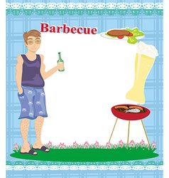 Barbecue party invitation with place for your text vector