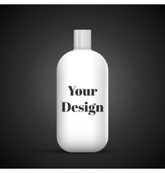 Cosmetic or hygiene grayscale white gray chrome vector