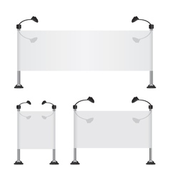 Billboard banner collection set vector