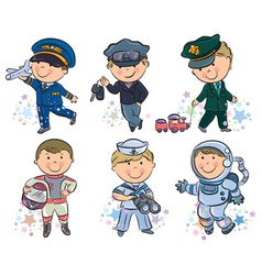 Professions kids set 1 vector
