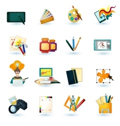 Designer icons set vector