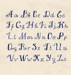 Cute handwritten watercolor letters vector