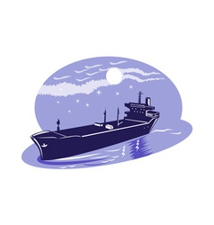 Container cargo ship vector