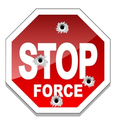 Stop force vector