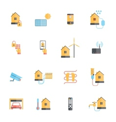 Smart home icon flat vector