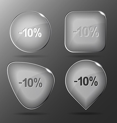 -10 glass buttons vector