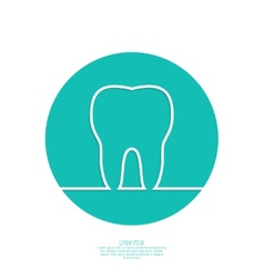 Background with tooth outline vector