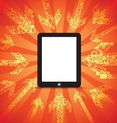 Modern mobile computer vector