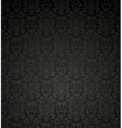Black seamless pattern vector
