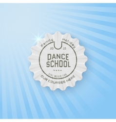 School of dance badges logos and labels for any vector