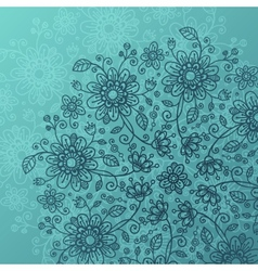 Sea blue flowers background vector