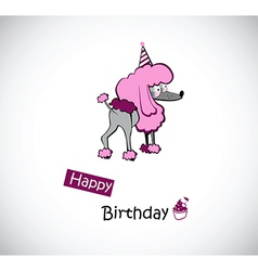 Happy birthday poodle vector
