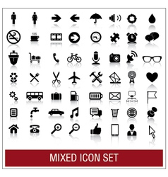 Mixed icon set vector