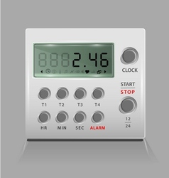 Portable digital timer vector