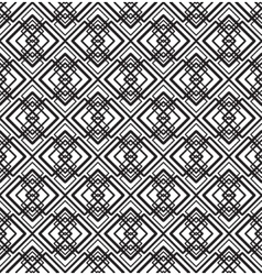 Abstract seamless geometric black and white vector