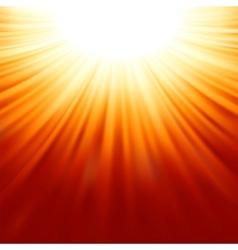Sunburst rays of sunlight tenplate eps 8 vector