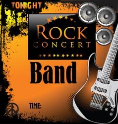Rock concert poster vector