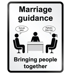 Marriage guidance information sign vector