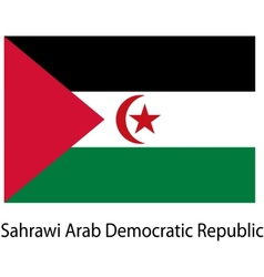 Flag of the country sahrawi arab democratic vector