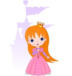 Beautiful princess vector