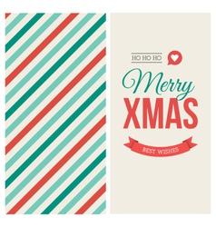 Christmas card pattern vector