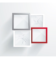 Paper frames abstract 3d geometrical design vector