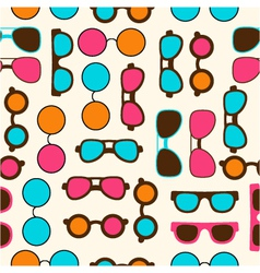 Seamless pattern with color sun glasses vector