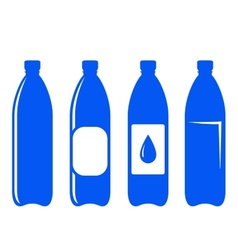Water bottle icons vector