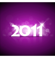 2011 new year pink vector
