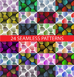 Seamless colorful abstract pattern with stylized v vector