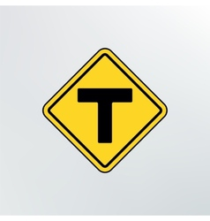 T intersection icon vector