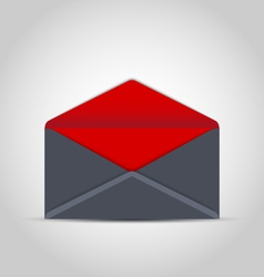 Open empty envelope with shadow on grey background vector