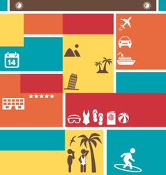 Choose your best summer vacation tourist brochure vector