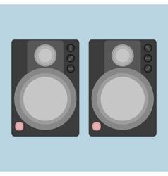 Two audio speakers vector