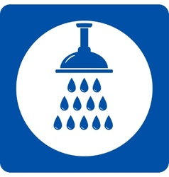 Blue shower head icon vector