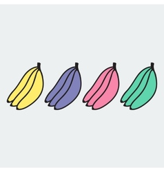 Set of hand-drawn banana - on the theme of the vector