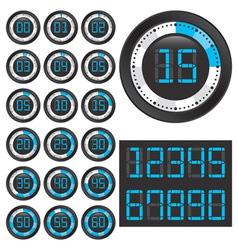 Black chronometers vector