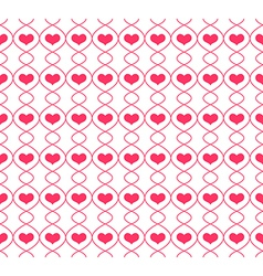 Pattern with repeating hearts vector