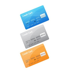 Credit card icons isolated on white background vector