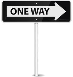 One way arrow vector