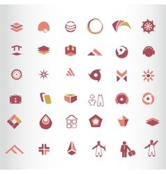 Symbol elements set for web design vector