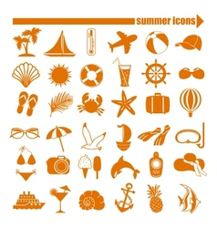 Summer icons set vector