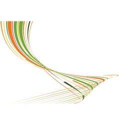 Green and orange bent lines vector