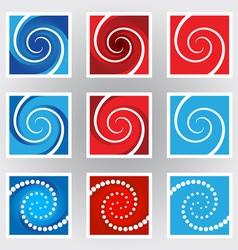 Swirl symbols set vector